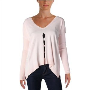 AQUA by Bloomingdales light pink sweater
